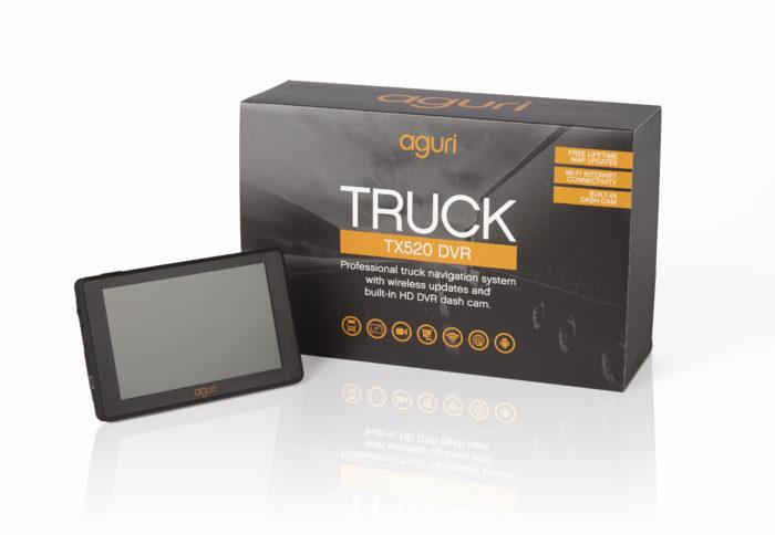 TX520 truck sat nav DVR with box