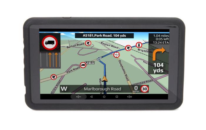 TX750 truck sat nav front navigation screen
