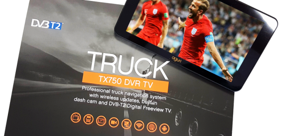 truck sat nav with box and TV