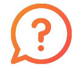 question mark in speech bubble