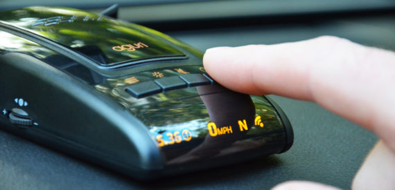 finger on speed trap detector