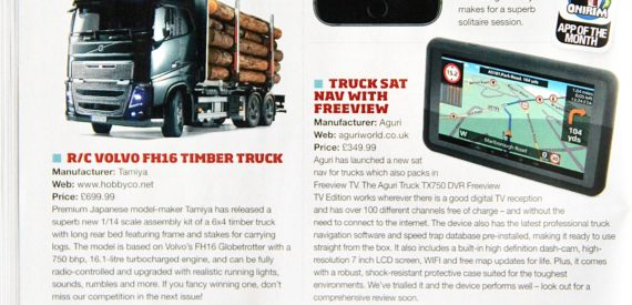 trucking magazine sat nav