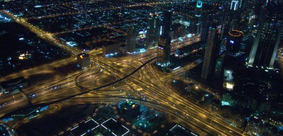 city roads at night