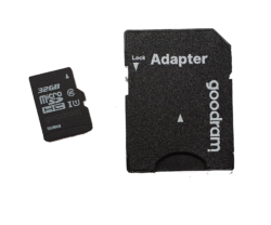 32GB SD Card & Adaptor