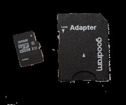 Aguri 32GB SD Card & Adaptor