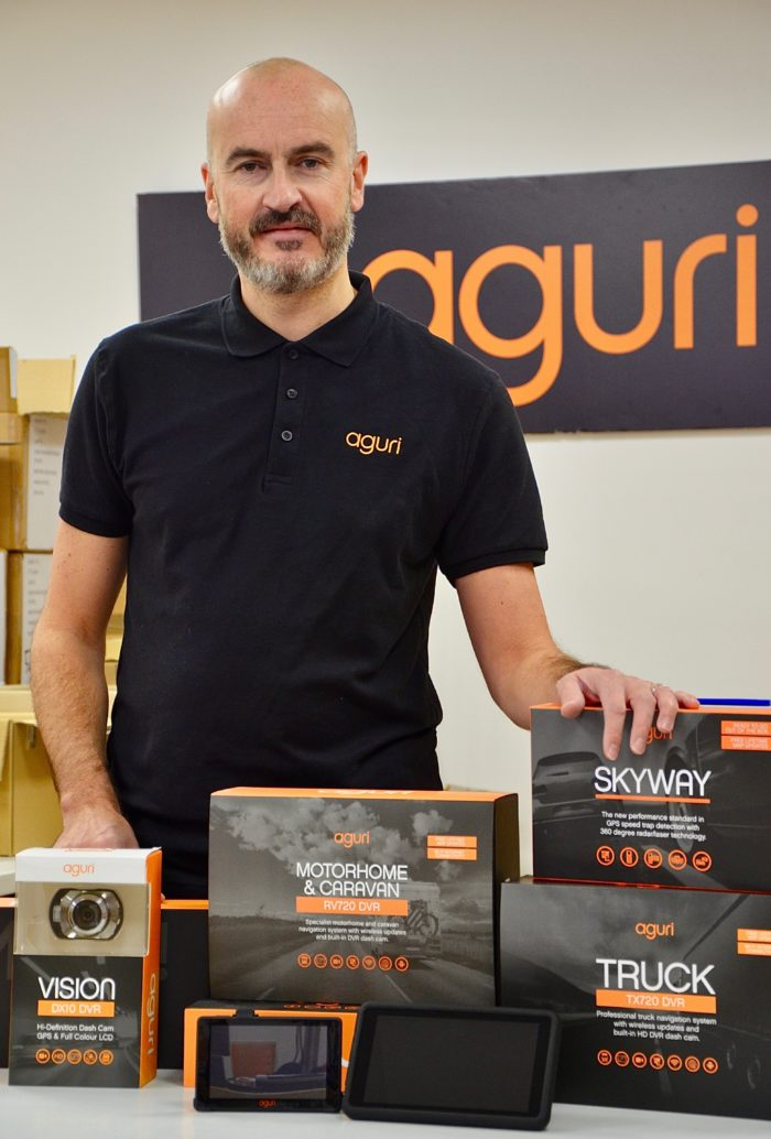 Steven Ballard from Aguri with driving technology products