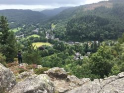 Betws-y-coed from Llyn Parc walk viewpoint