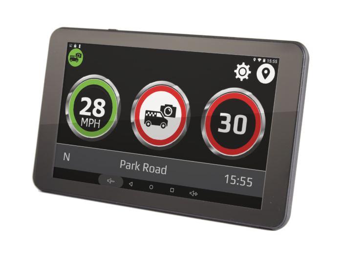 GT720 sat nav with built-in dash and Drive Assist speed limit alert system
