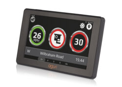 Aguri car sat nav with built-in drive assist technology