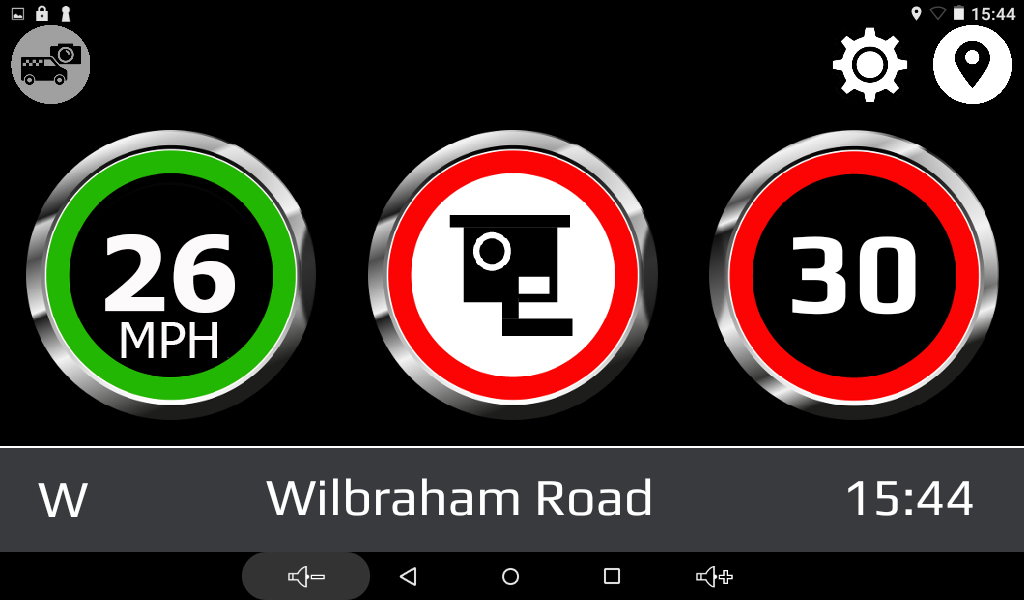 Drive Assist screen view example