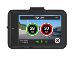 the Aguri DX4000 Drive Assist showing a speed alert